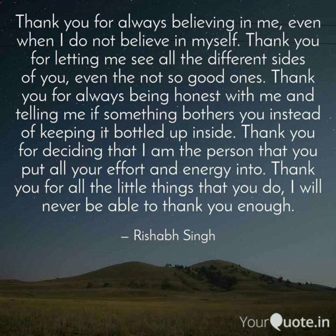 thank you quotes for love
