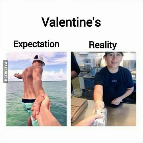 boyfriend valentines day meme for single women