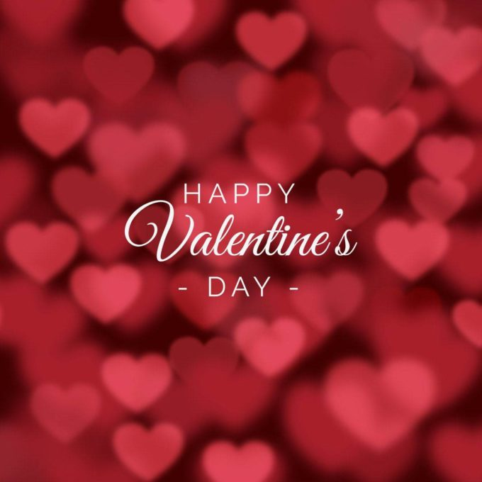 download free red happy valentines day blurred hearts image