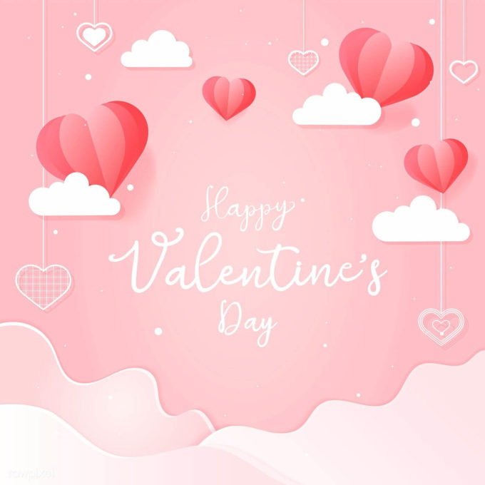 download free happy valentines day pink card image