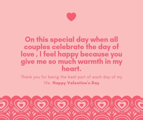 download free pink happy valentines day quote image