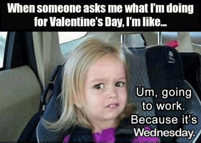 single on valentines day meme